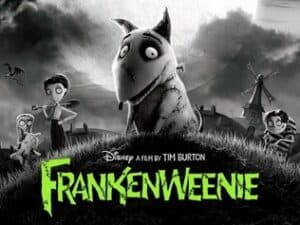 Poster for Tim Burton film, Frankenweenie.